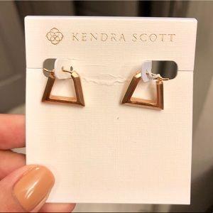 NWT Kendra Scott Renzo Earrings in Rose Gold